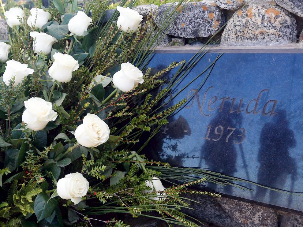 La tumba de Neruda en Isla Negra.