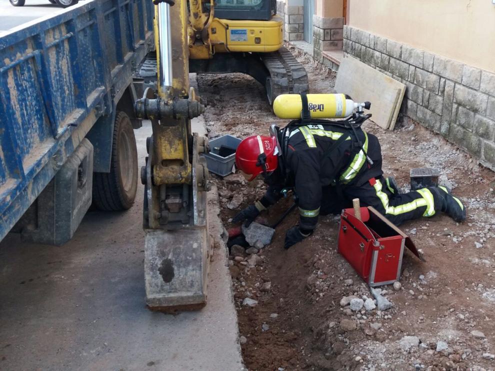 Escape de gas en La Almunia
