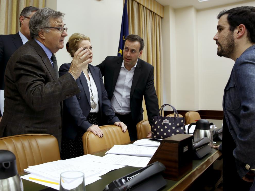 Garzón, este miércoles, en la comisión de economía del Congreso.