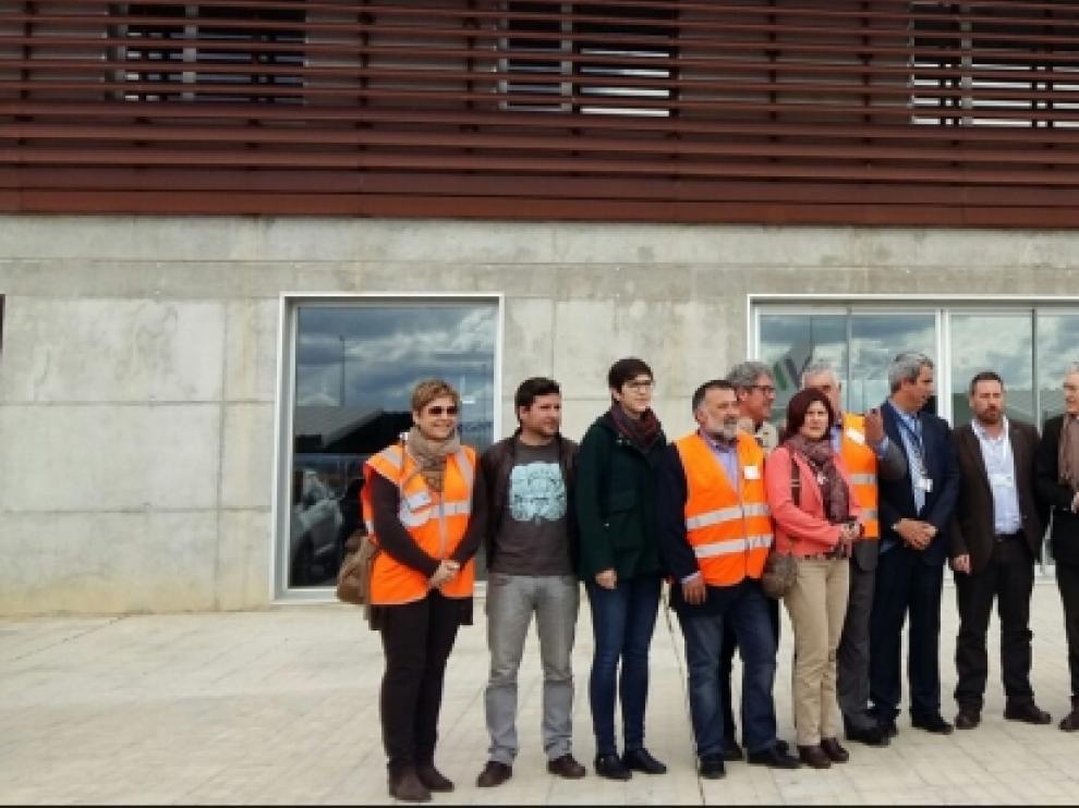 Diputados de las Cortes visitaron el aeropuerto de Teruel.