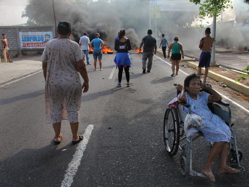 Protestas en la ciudad de Maracaibo.