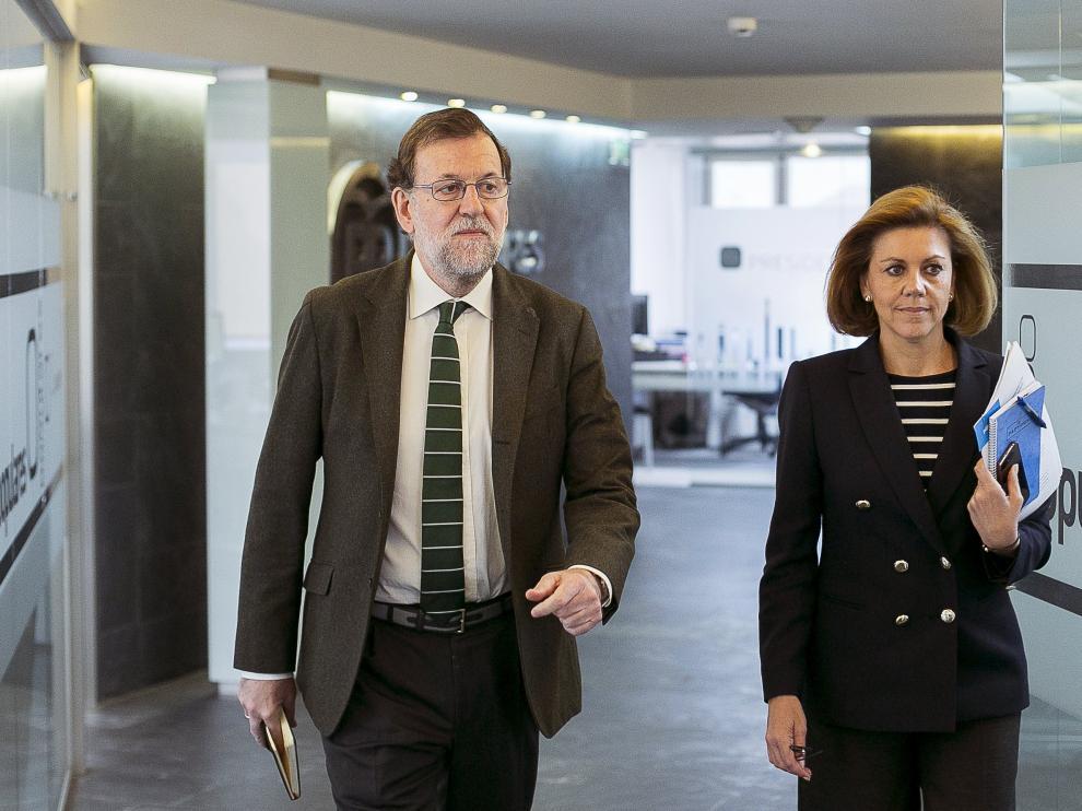 Mariano Rajoy y Dolores de Cospedal.