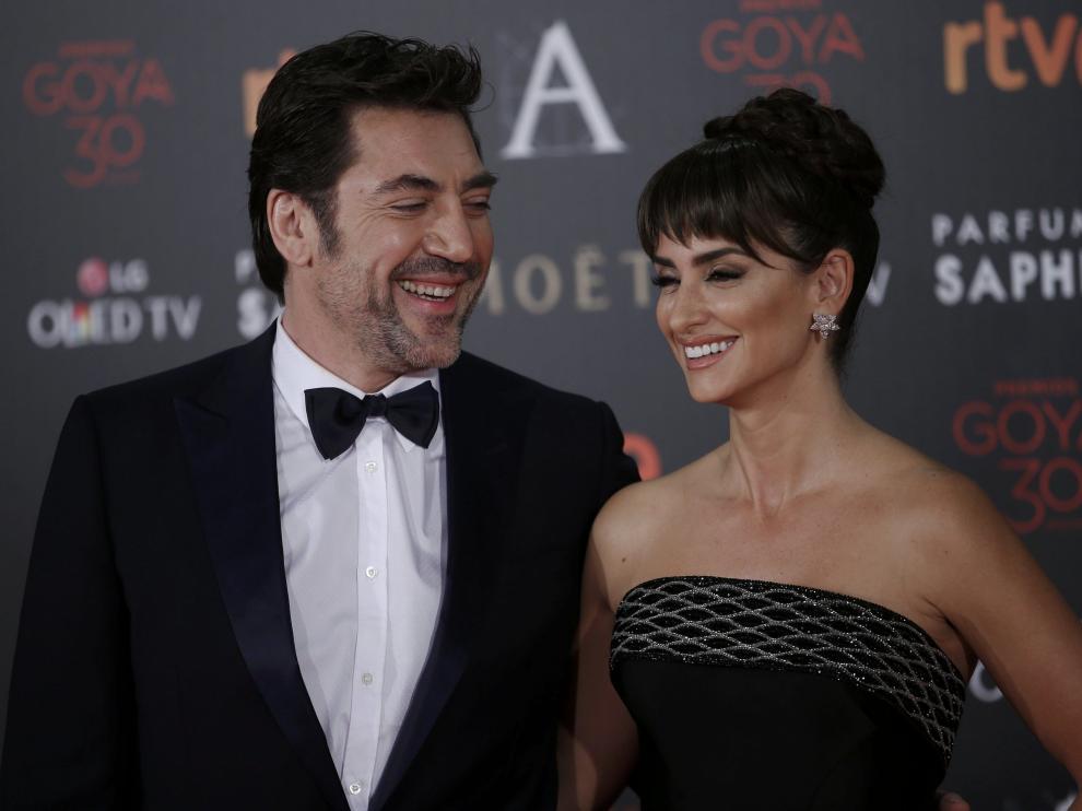 Javier Bardem y Penélope Cruz durante la pasada gala de los Goya.