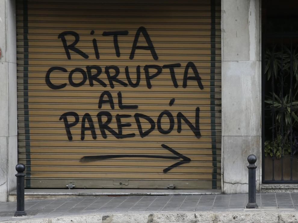 Pintada aparecida junto a la casa de Rita Barberá.