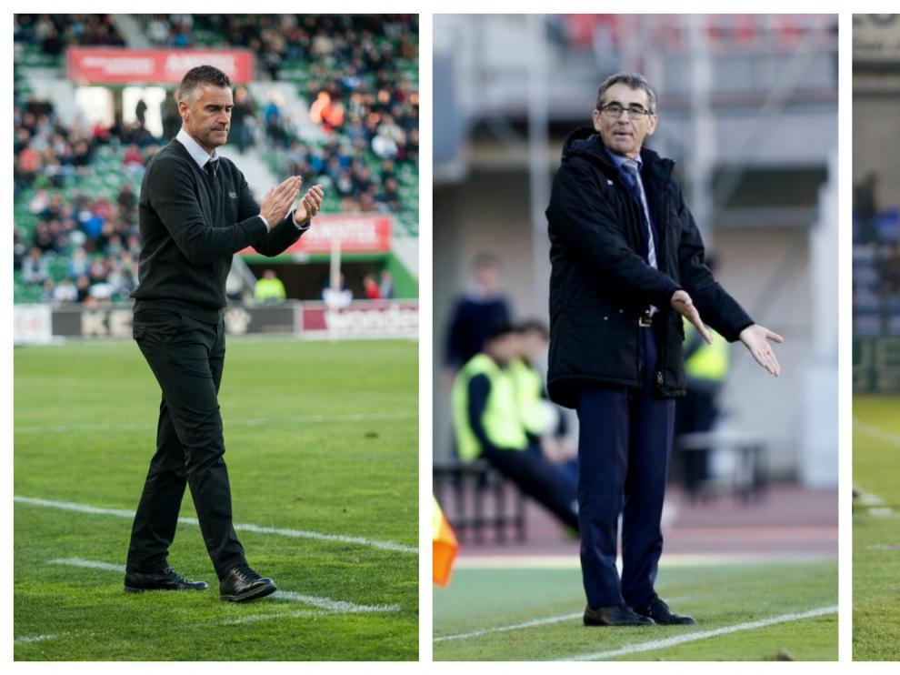 Carreras, Vázquez y Anquela, tres de los entrenadores que han debutado esta temporada