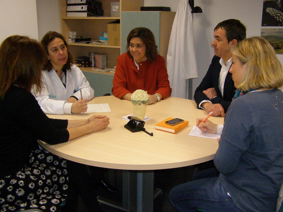 La portavoz de C's en las Cortes de Aragón se ha reunido con la coordinadora del centro de salud turiasonense.