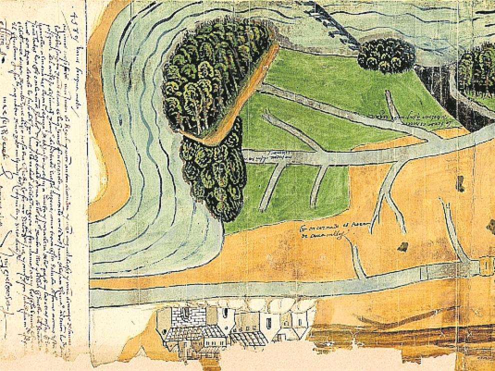 El mapa del canal de Tauste encontrado en el archivo navarro permanecía escondido dentro de un proceso judicial.
