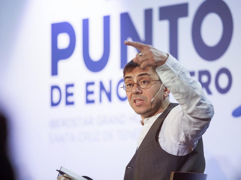 Juan Carlos Monedero, en el foro Punto de Encuentro.
