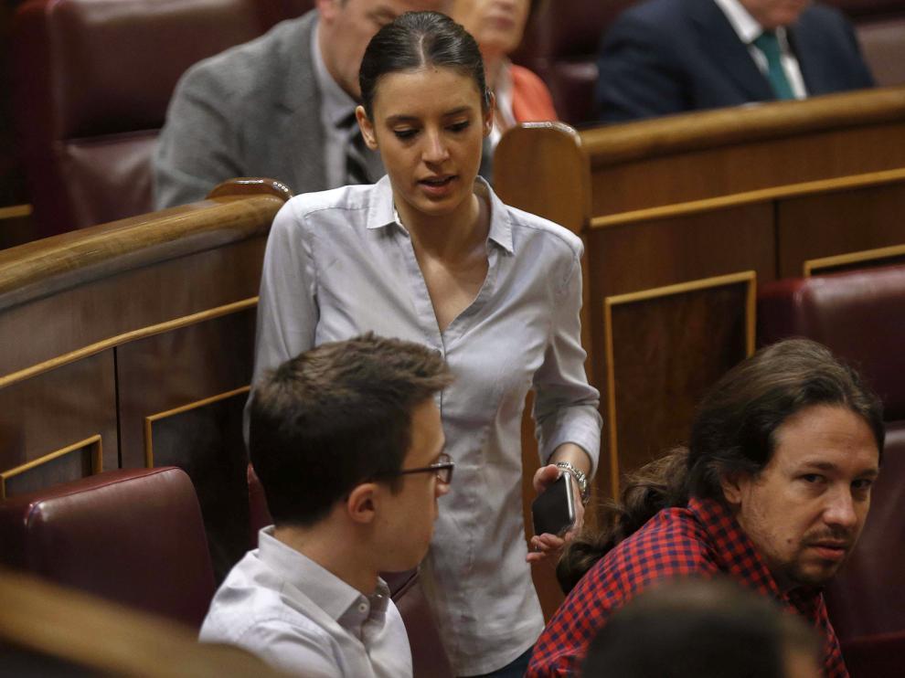 Pablo Iglesias en el último pleno de la XI Legislatura.