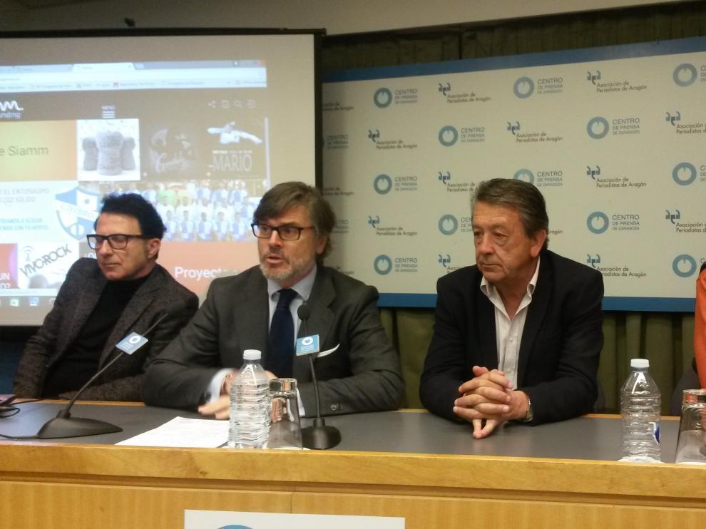 Una imagen de la presentación de la campaña de crowdfunding del Ebro