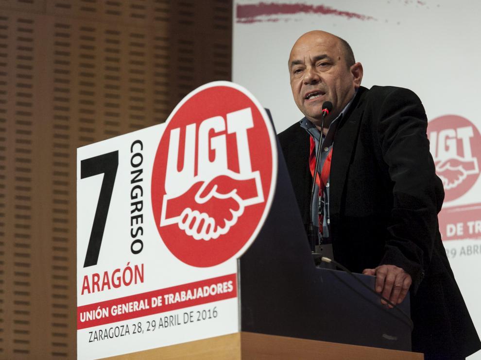 Alastuey, reelegido como secretario general de UGT Aragón
