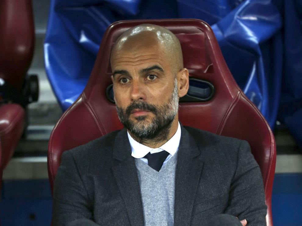 El entrenador del Bayern de Múnich, Pep Guardiola, durante el partido de ida.