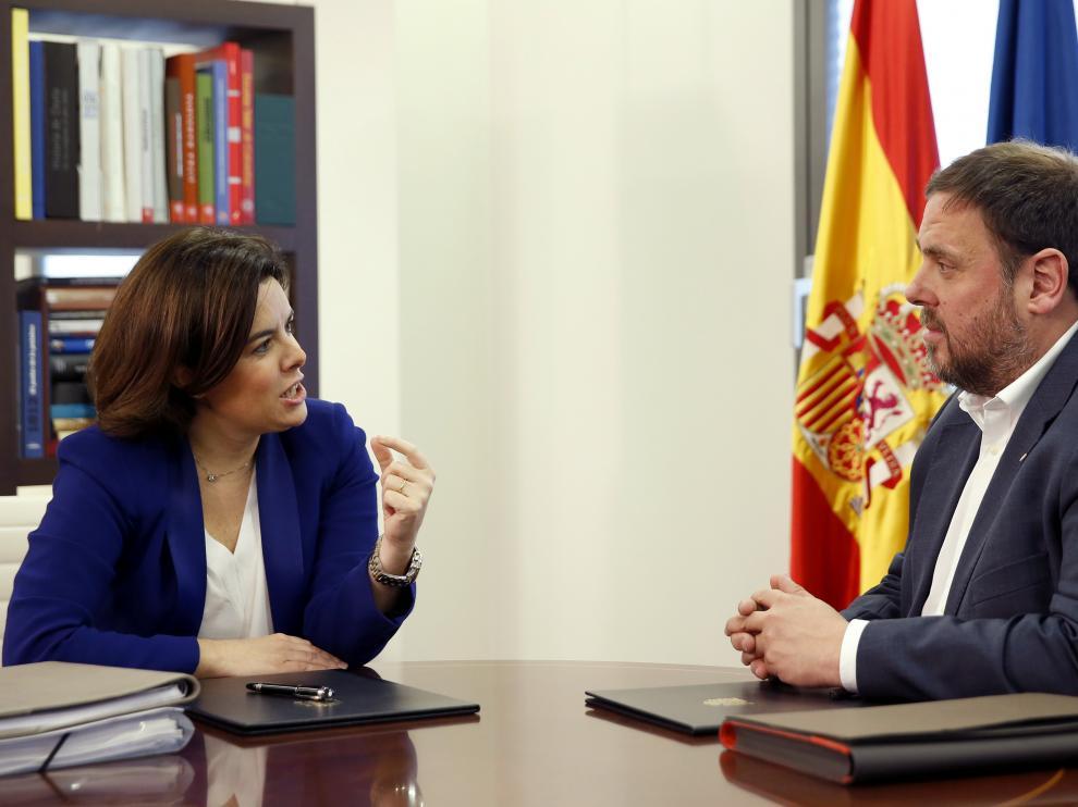Soraya Sáenz de Santamaría y Oriol Junqueras