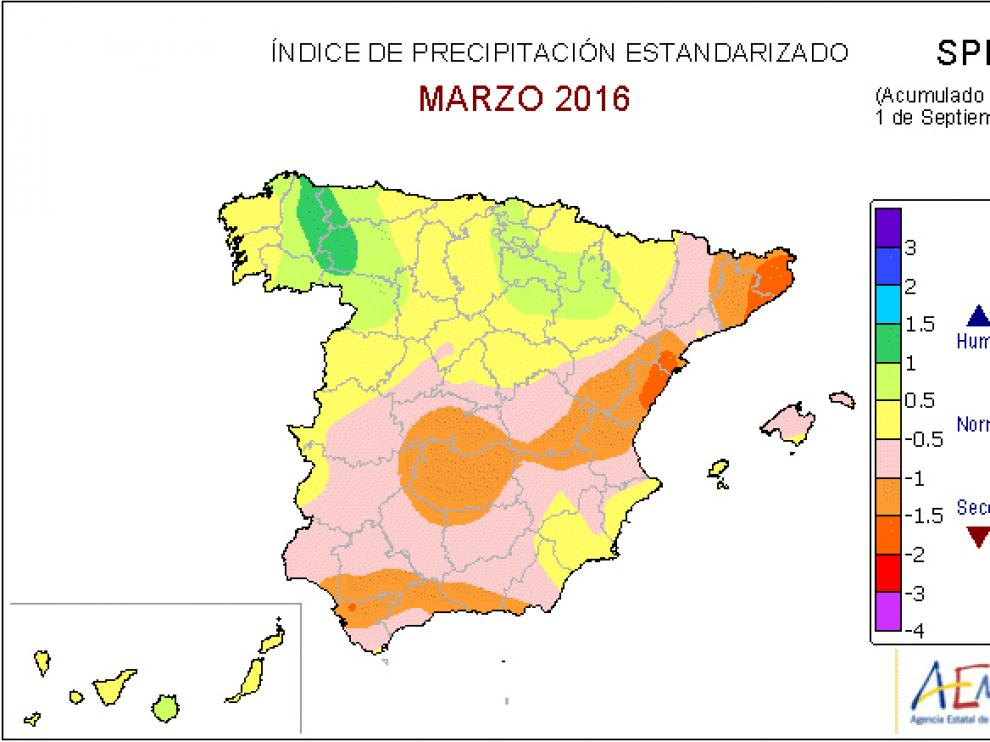 El balance de lluvias supera en un 25% el nivel normal en el interior de Aragón