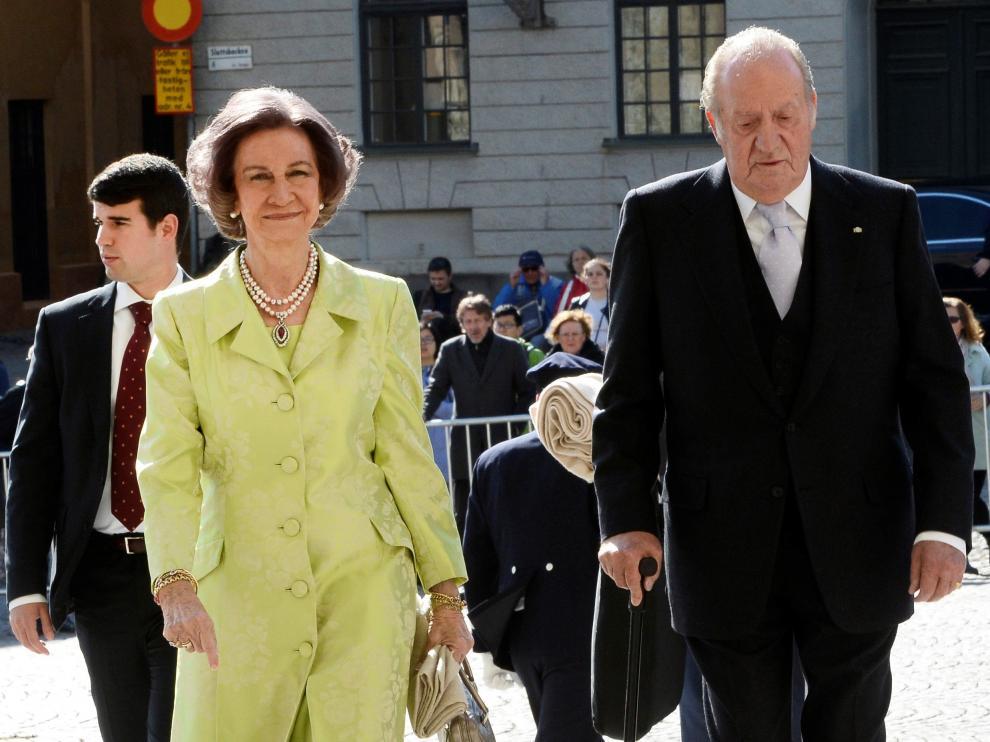 Don Juan Carlos y doña Sofia, en Estocolmo