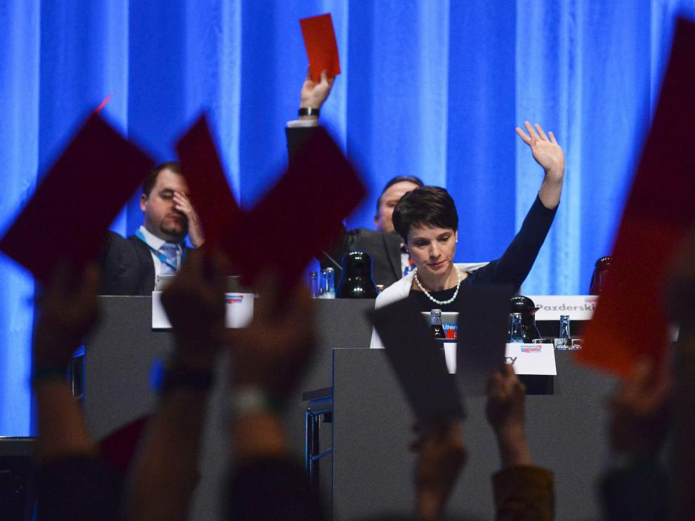 Frauke Petry, presidenta del partido Alternativa por Alemania (AfD)