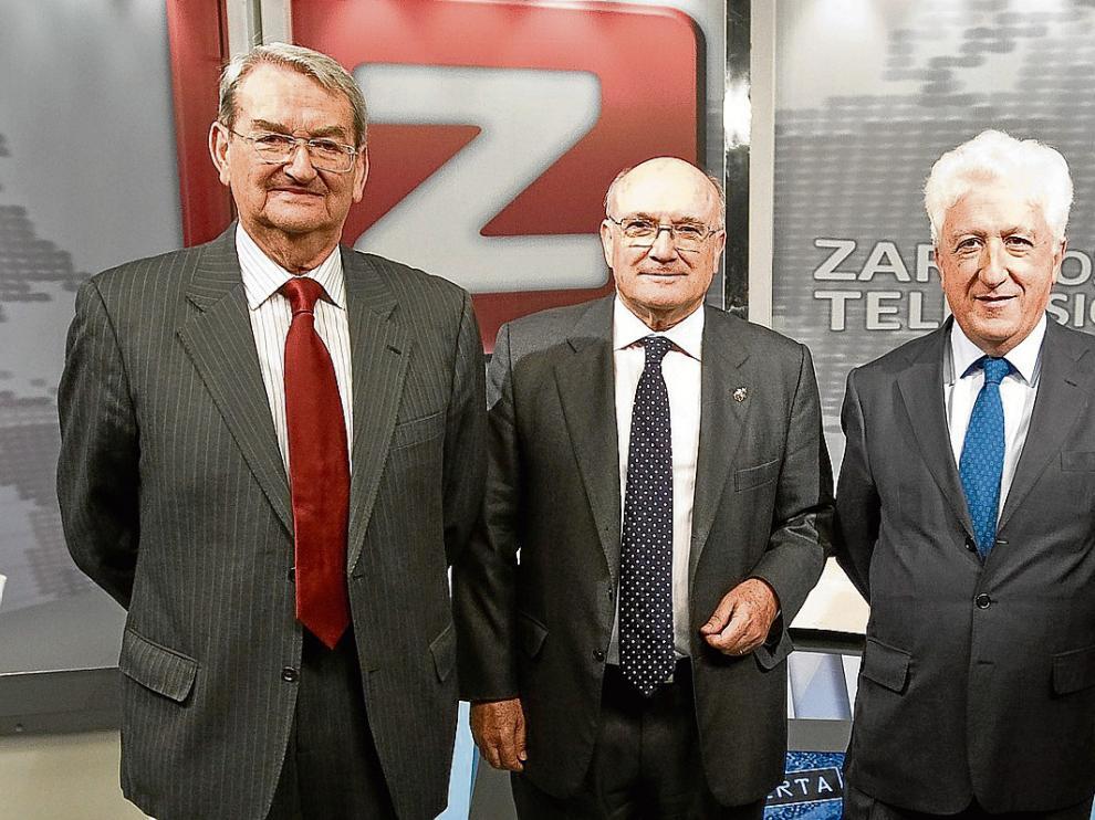 Julio Arenere, Carlos Carnicer y Fernando_García Vicente, en una imagen de 2013.
