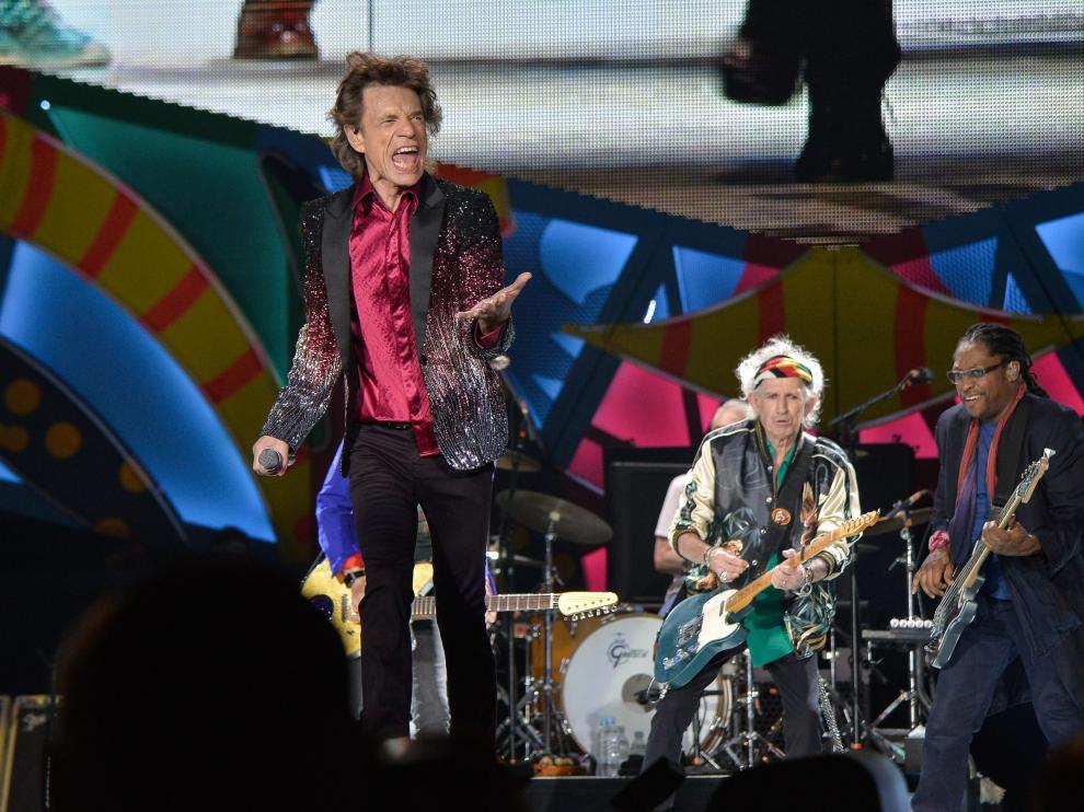 Los Rolling Stones durante su mítico concierto en La Habana.