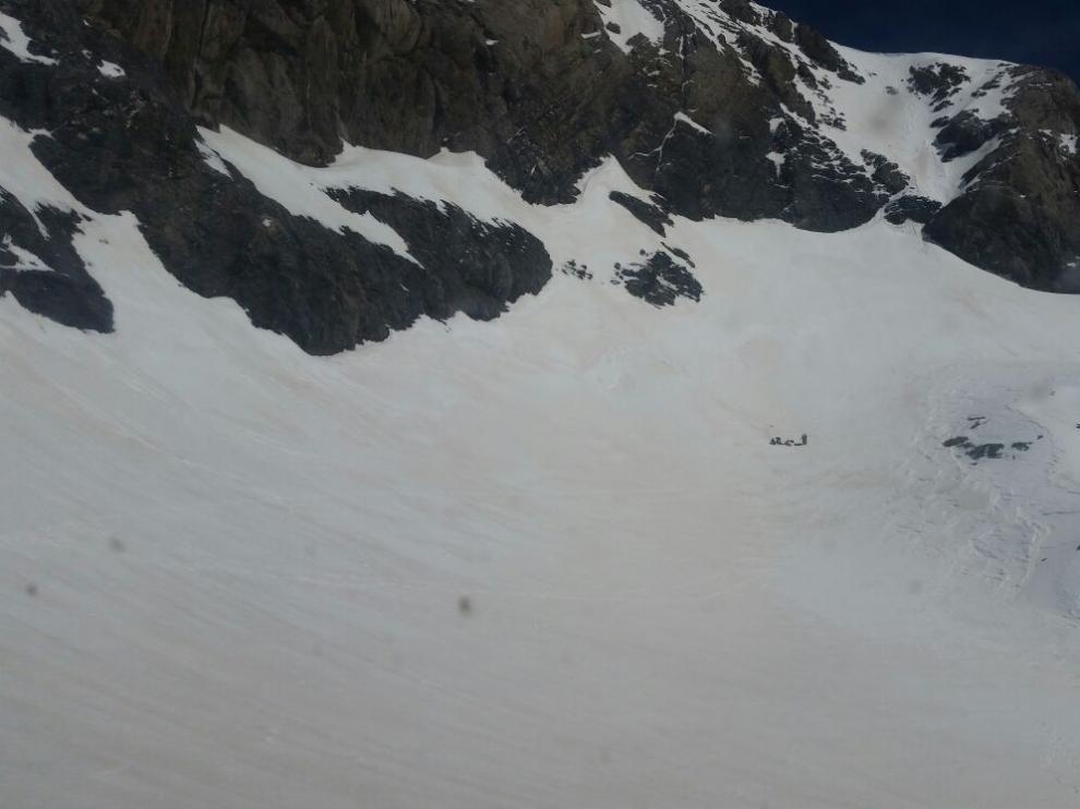 Zona de La Escupidera, a unos 3.000 metros de altitud.