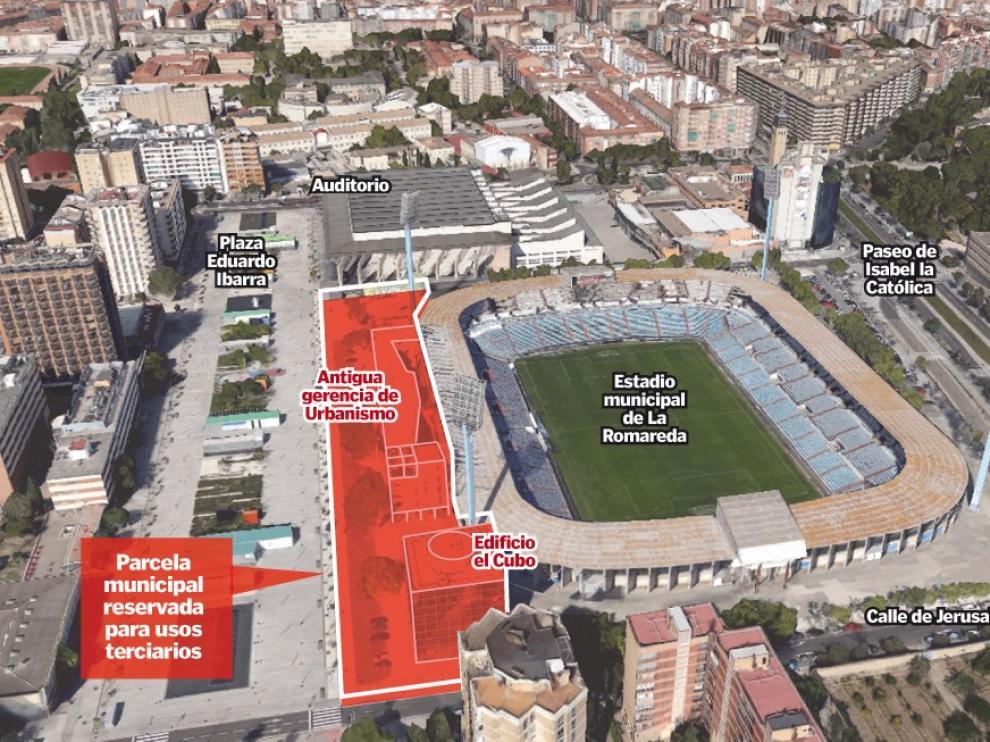 Ubicación del posible hospital en Zaragoza.