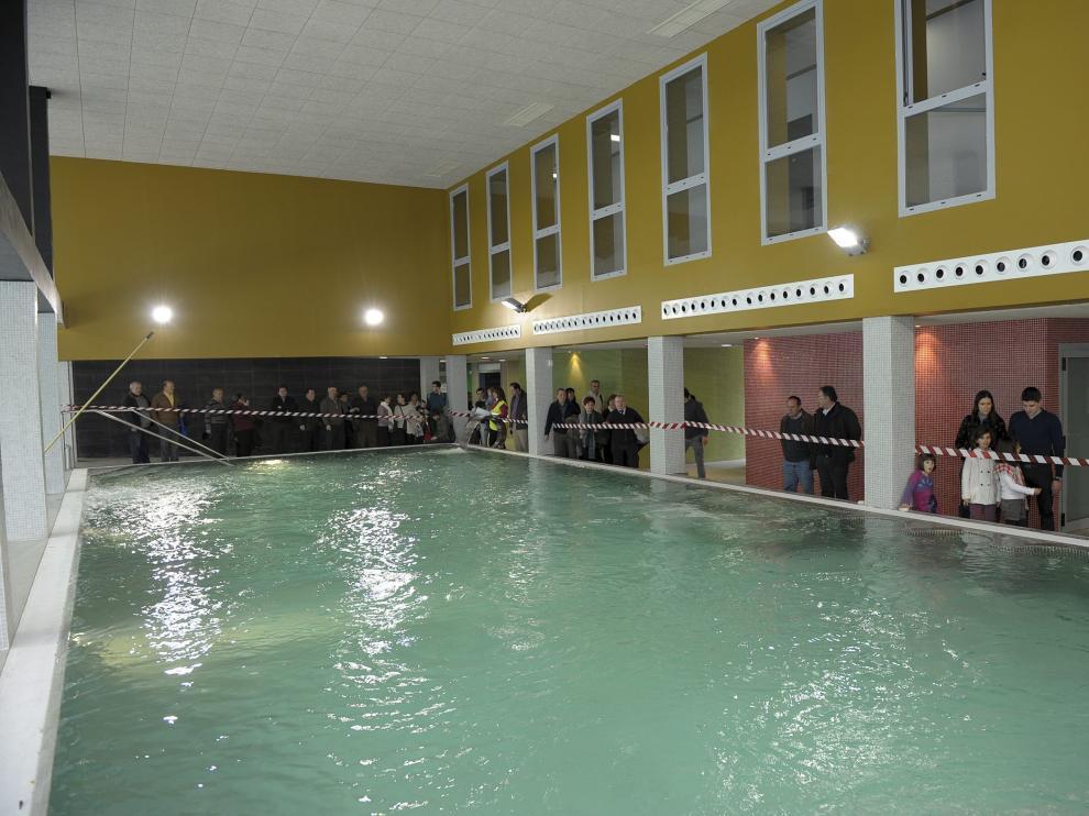 Balneario de Segura de Baños en una jornada de puertas abiertas en 2013