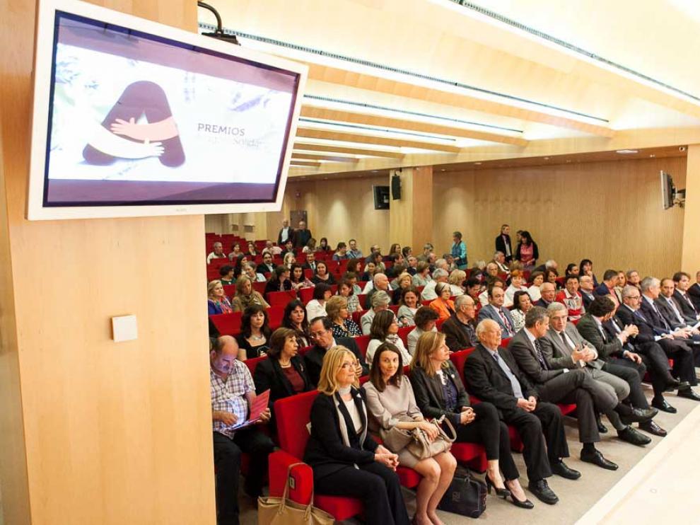 Entrega de premios Aragón Solidario en el Patio de la Infanta