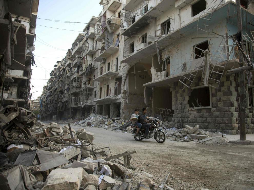 Destrucción total en la ciudad siria de Alepo.