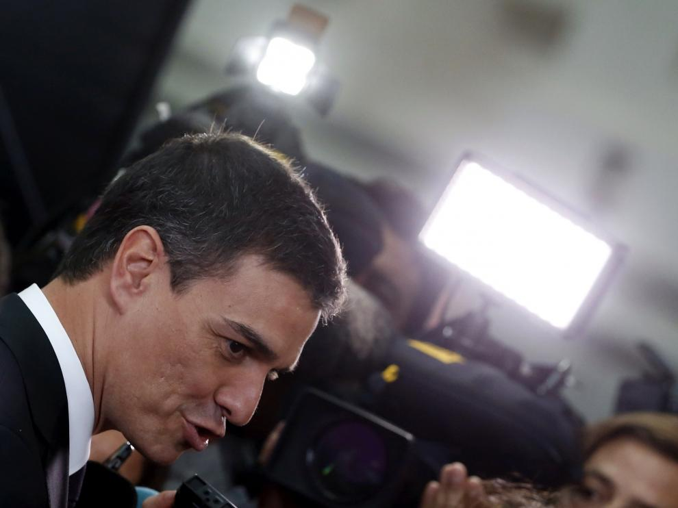 Pedro Sánchez, esta semana en la entrega de los premios Ortega y Gasset de Periodismo.