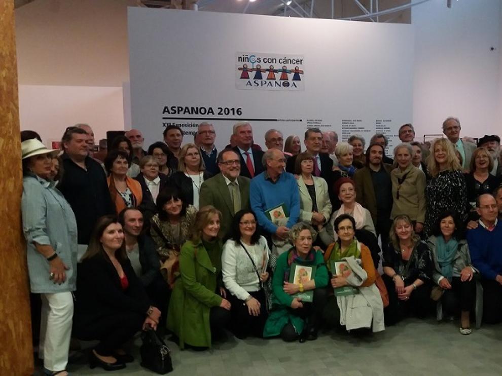 Clausura de la XXI exposición y venta de arte contemporáneo de Aspanoa
