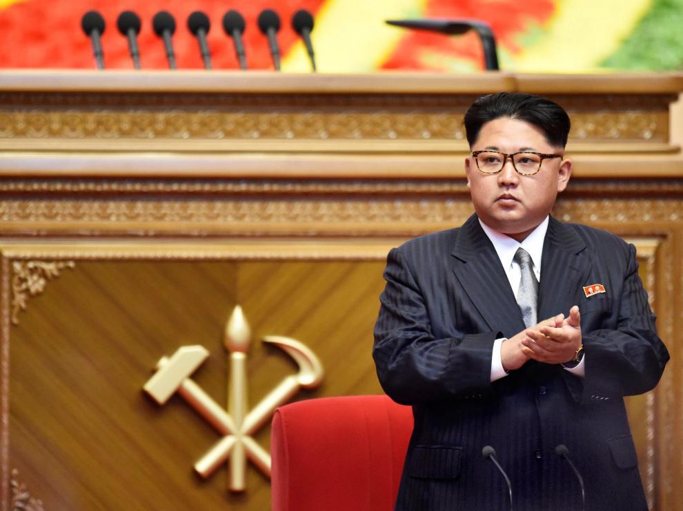 Kim Jong-Un durante la clausura del congreso.