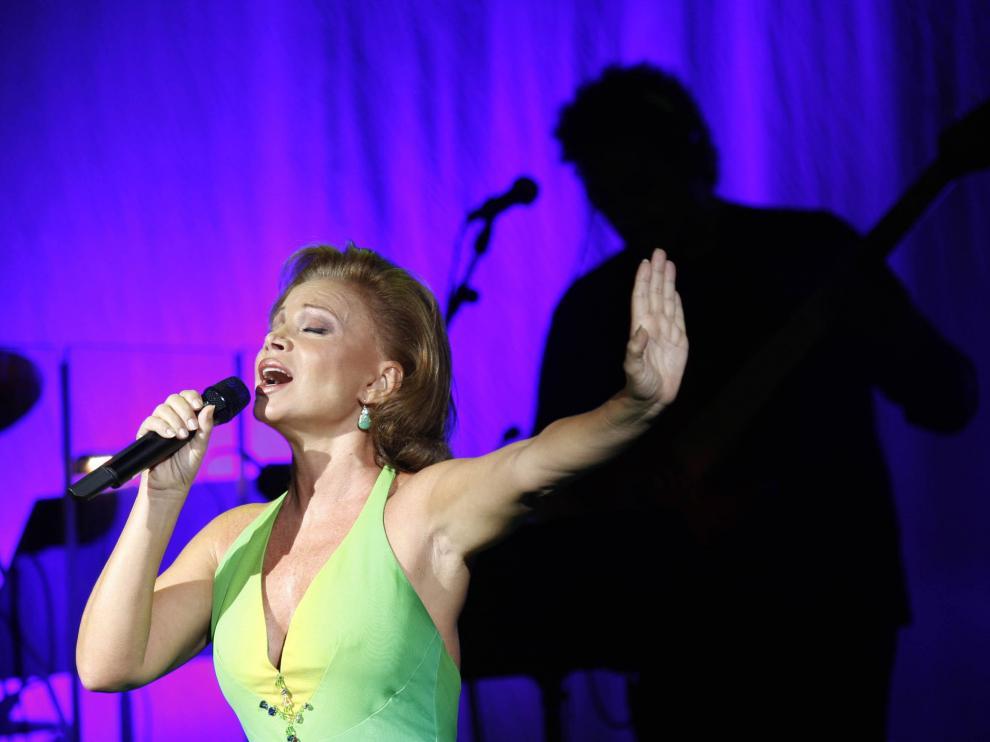 Paloma San Basilio, durante una actuación.