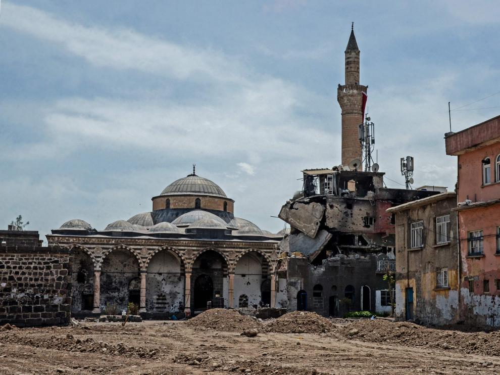 Distrito histórico de Diyarbakir en el que se han venido produciendo ataques entre las fuerzas del orden y jóvenes simpatizantes kurdos.