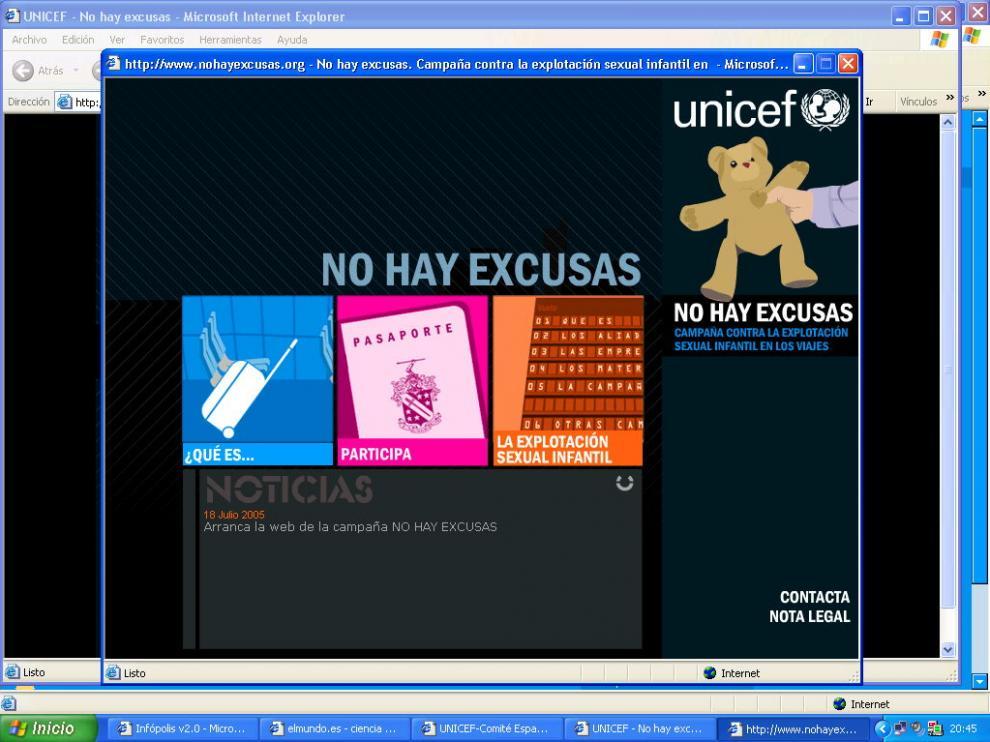 Portal web de la Policía para luchar contra el turismo sexual contra menores.