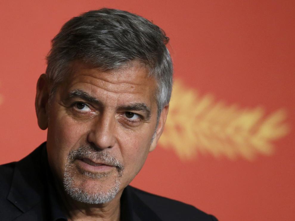 George Clooney, este jueves en Cannes.