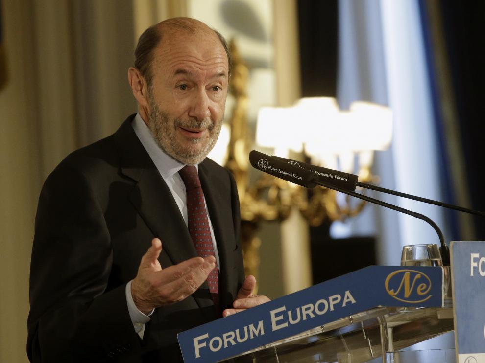 El exsecretario general del PSOE y exministro Alfredo Pérez Rubalcaba