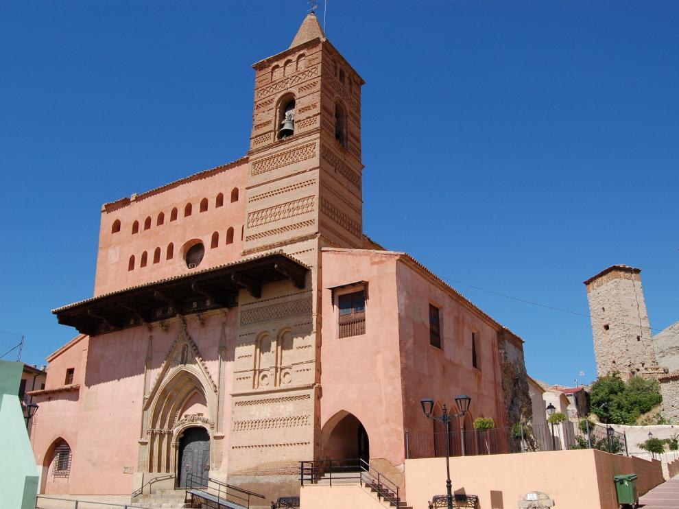 En los muros de las iglesias de Maluenda se han contabilizado más de 100 inscripciones