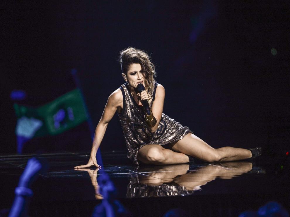 Actuación de la española Barei en Eurovisión 2016.