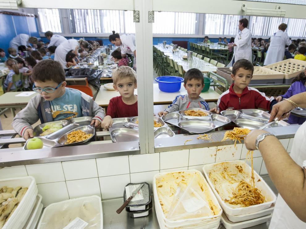Comedor escolar de Zaragoza.