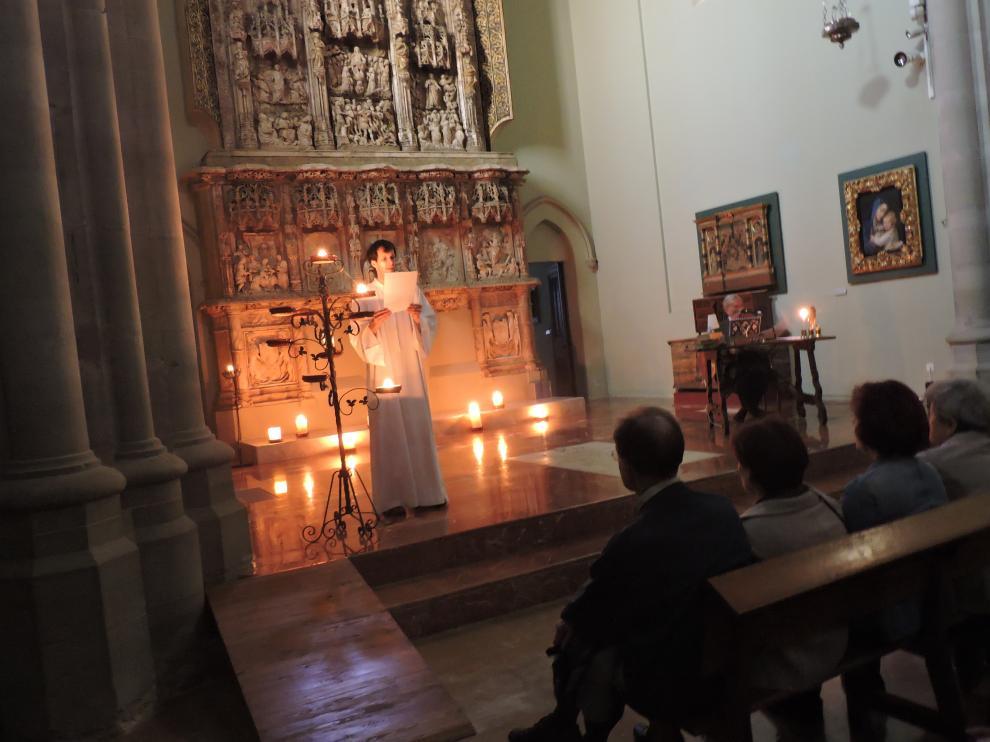 Un momento del acto en el Museo Diocesano de Huesca.