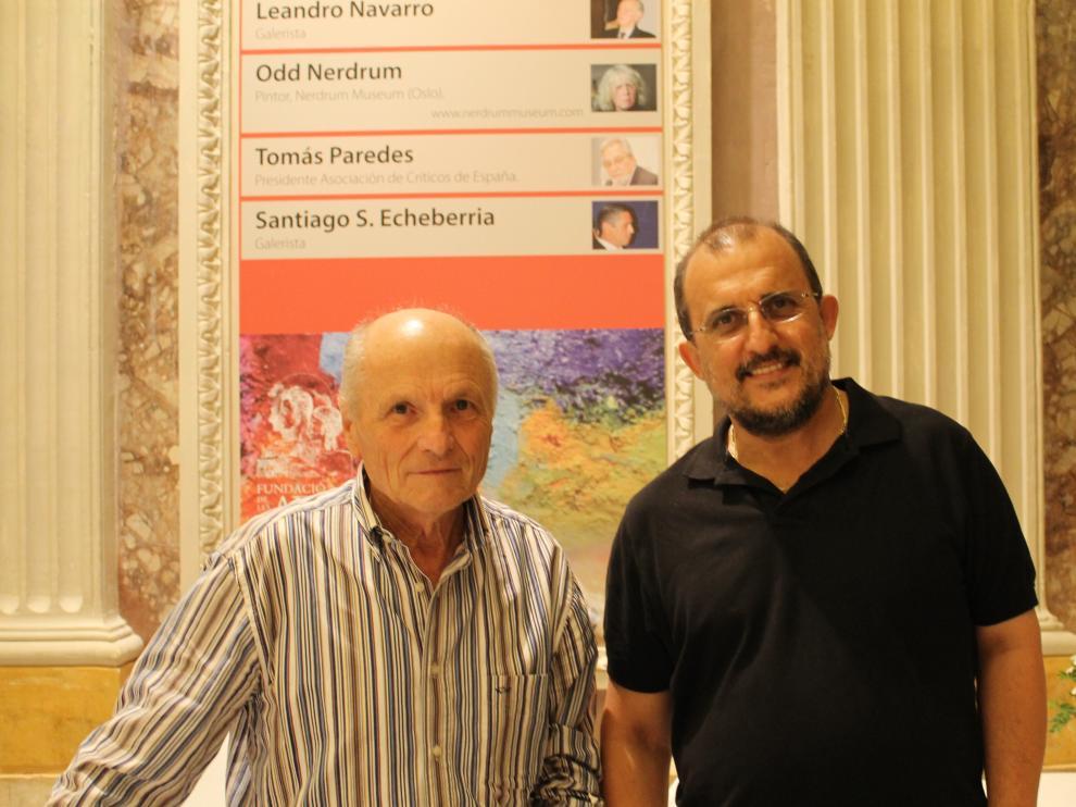 José Enrique González, junto a Antonio López