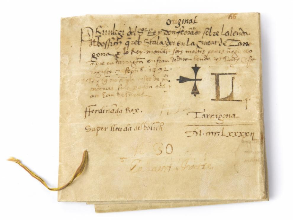 Privilegio con la firma de Fernando el Católico, de 1492.