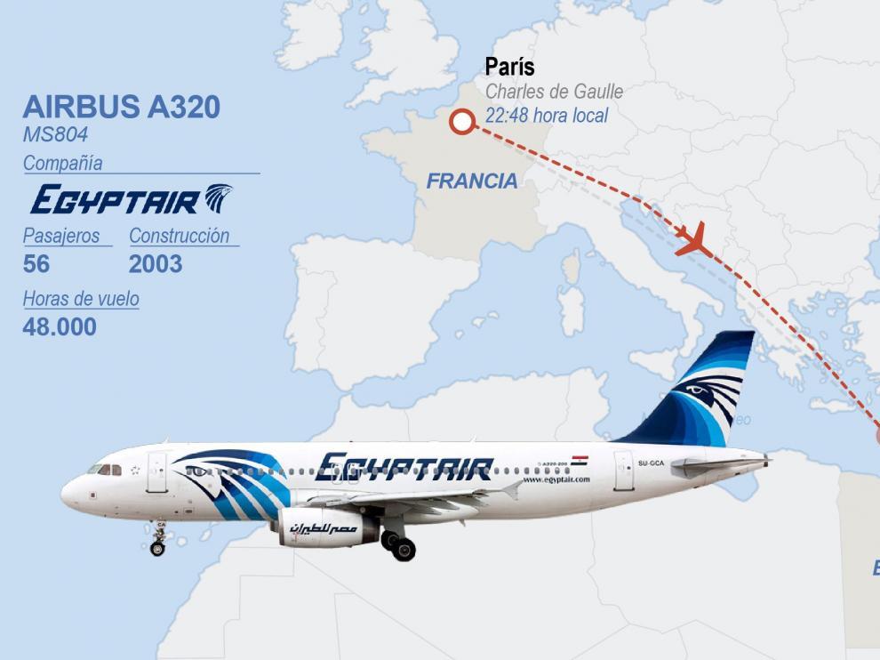Egipto apunta a un posible atentado tras la desaparición del avión de EgyptAir