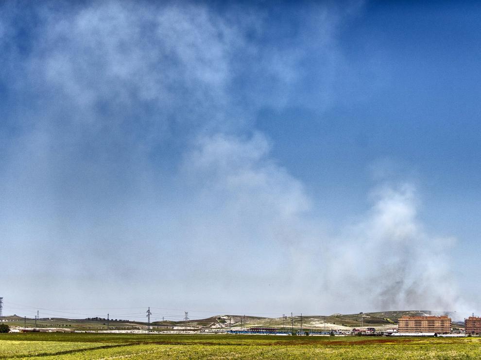 Estado del incendio de Seseña, a una semana de haberse iniciado.