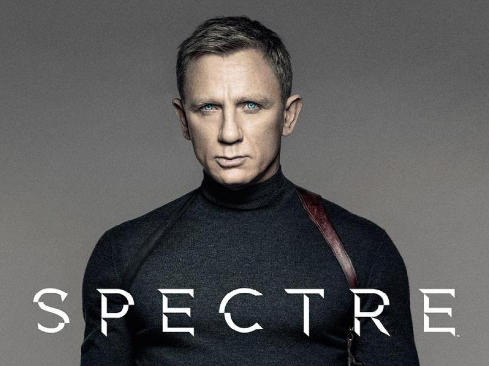 Cartel de la película de 007 'Spectre', protagonizada por Daniel Craig.