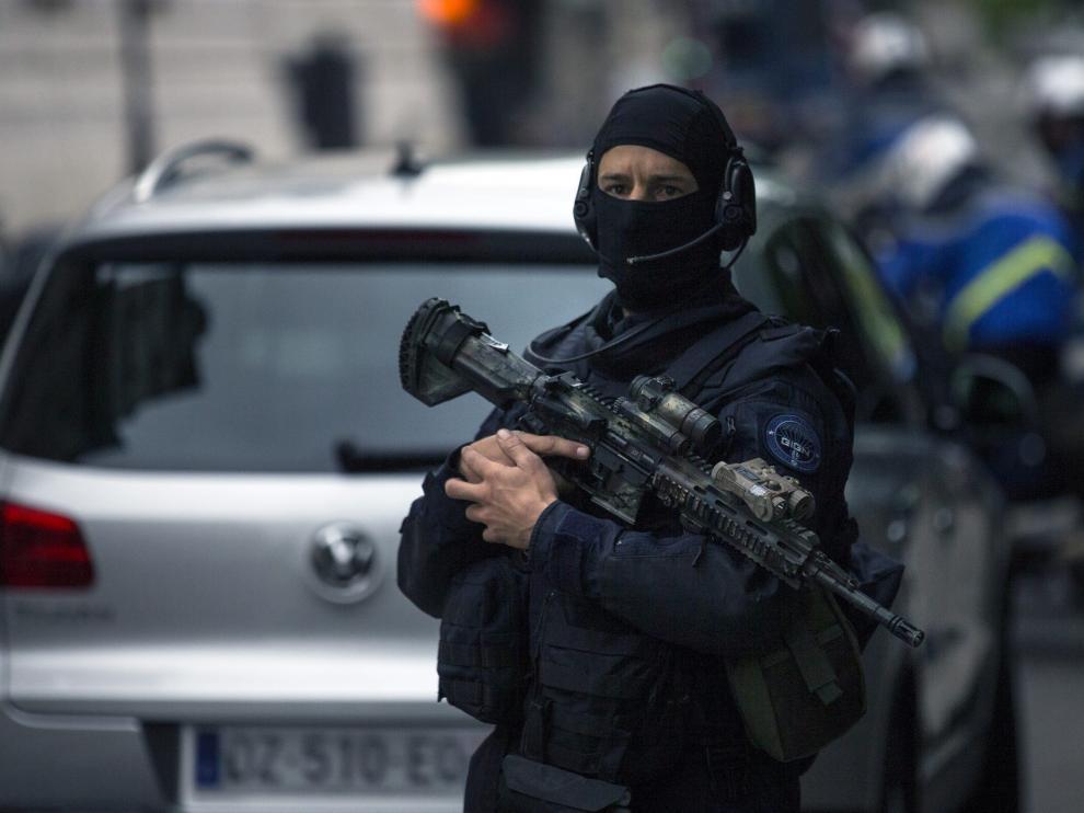 Vigilancia antiyihadista en Francia.