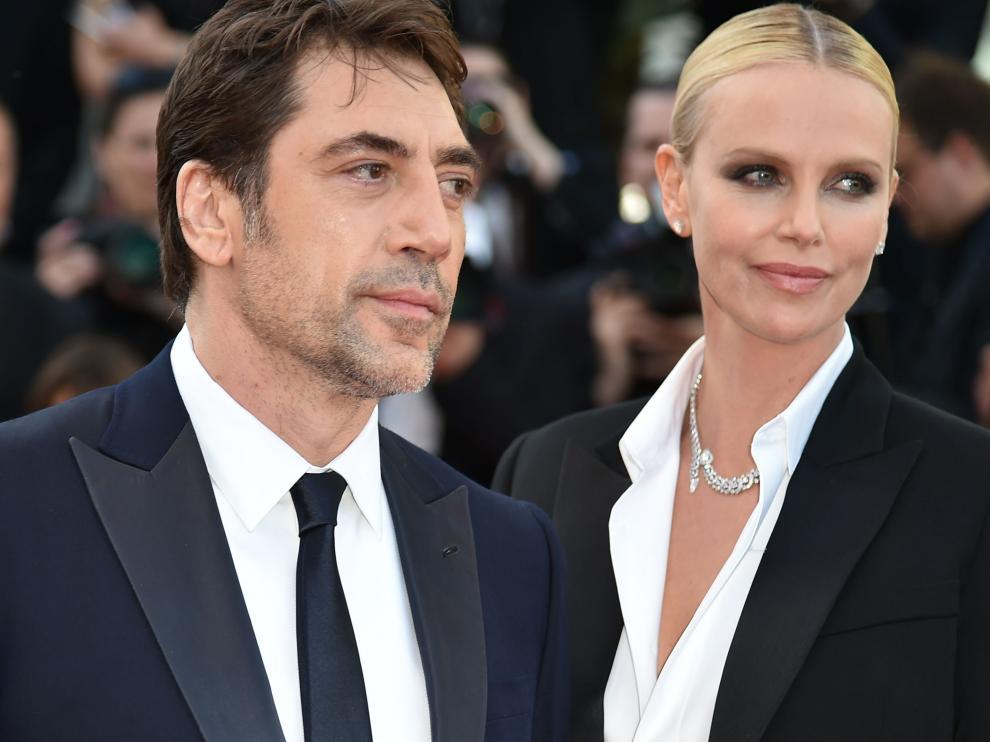 Javier Bardem y Charlize Theron en la alfombra roja del Festival de Cannes.