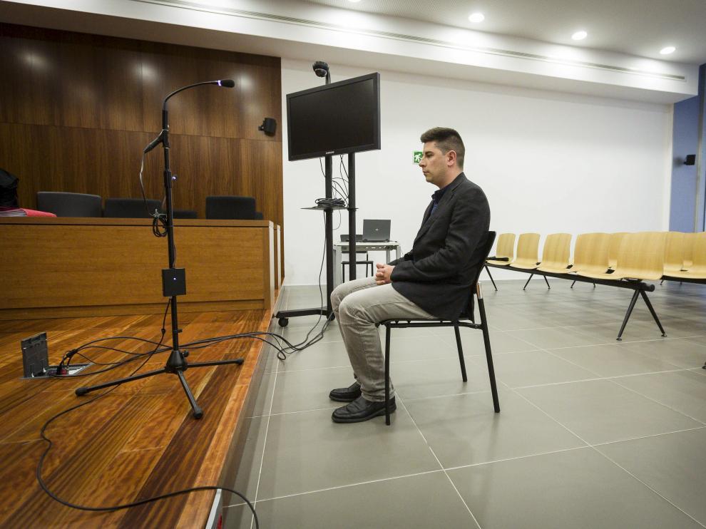 El acusado, Javier Cano, durante el juicio celebrado el 11 de mayo.