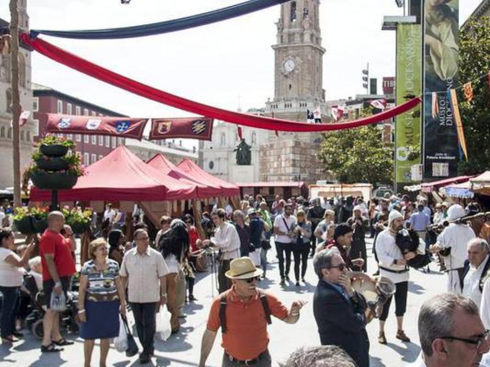 Mercado Medieval de las Tras Culturas en Zaragoza.