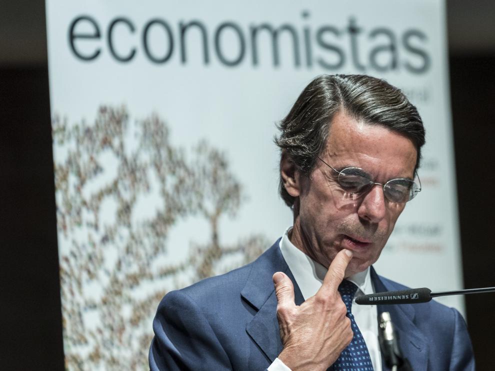 El expresidente del Gobierno y presidente de la Fundación FAES, José María Aznar