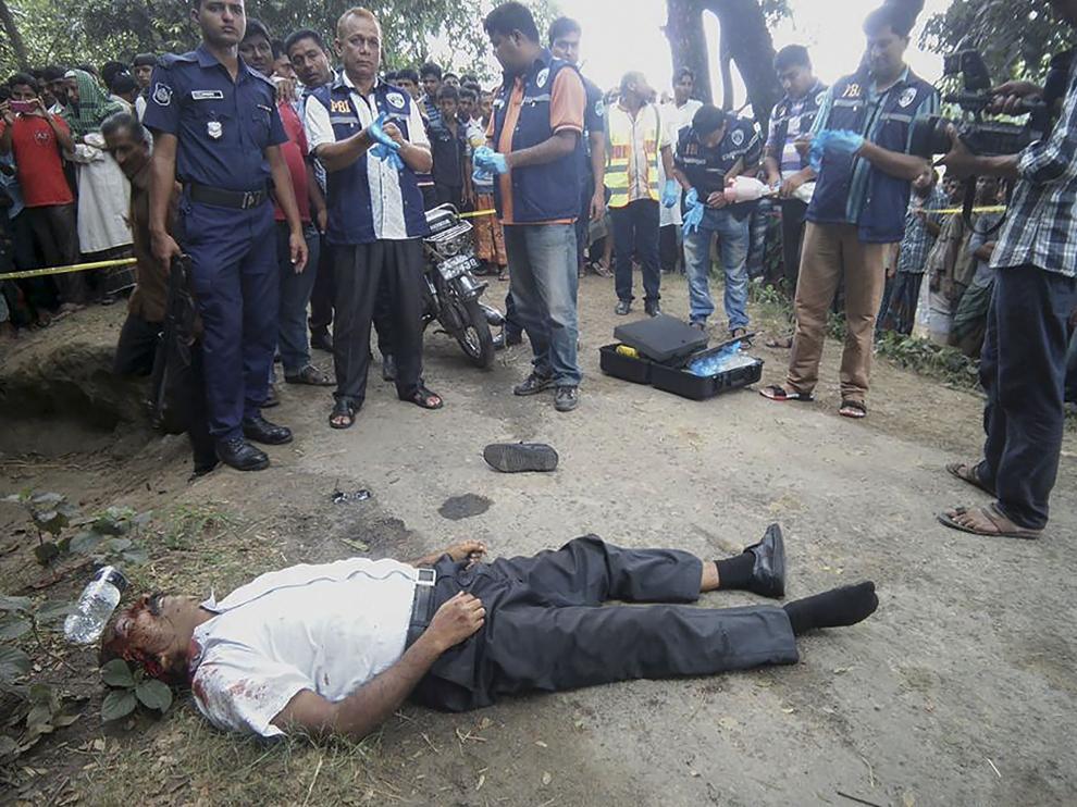 Imagen del doctor homeópata asesinado en Bangladesh.